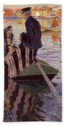 Church-goers In A Boat Beach Towel
