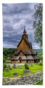 Church In Norway Beach Towel