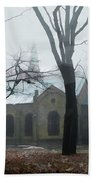 Church In The Misty Woods Beach Towel