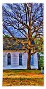 Church In The Wildwood - Paint Beach Towel