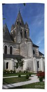 Church - Loches - France Beach Towel