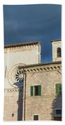 Church Of  Di San Pietro In Assisi Beach Towel