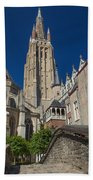 Church Of Our Lady In Bruges Beach Towel