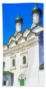 Church Of Simeon Stolpnik Beach Towel