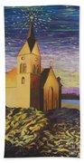 Church On The Rocks.  Beach Towel