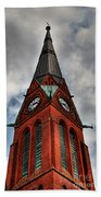 Church Spire Hdr Beach Towel