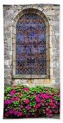Church Window In Brittany Beach Towel