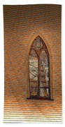 Church Windows Beach Towel