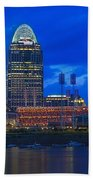 Cincinnati At Sunset Beach Towel