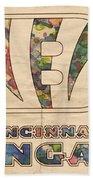 Cincinnati Bengals Logo Vintage Beach Towel