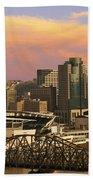Cincinnati Over The Bridge Beach Towel