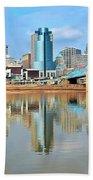 Cincinnati Reflects Beach Towel