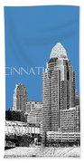 Cincinnati Skyline 1 - Slate Beach Towel