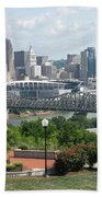 Cincinnati Skyline Beach Towel