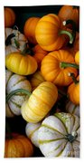Cinderella Pumpkin Pile Beach Towel by Kerri Mortenson
