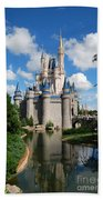 Cinderellas  Castle Beach Towel