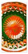 Circle Orange Beach Towel