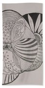 Circles Of Zen Tangle Beach Towel