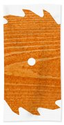 Circular Saw Blade With Pine Wood Texture Beach Towel by Stephan Pietzko