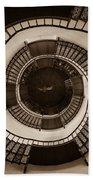Circular Staircase In The Granitz Hunting Lodge Beach Sheet