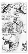 Circus Animals, 1888 Beach Towel