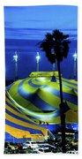 Circus Tent Swirls Of Blue Yellow Original Fine Art Photography Print  Beach Towel