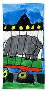 Circus Train Beach Towel by Max Kaderabek Age Eight