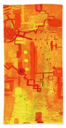 Citrus Circuitry Beach Towel