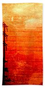 City And Its Veins Beach Towel