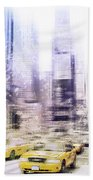 City-art Times Square I Beach Towel