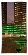 City At Night Urban Abstract Beach Towel