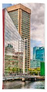 City - Baltimore Md - Harbor Place - Future City  Beach Towel