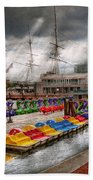 City - Baltimore Md - Modern Maryland Beach Towel by Mike Savad