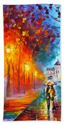 City By The Lake Beach Towel