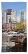 City Centre Of Rotterdam In Netherlands Beach Towel