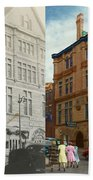 City - Chattanooga Tn - 1943 - The Masonic Temple - Both Beach Towel