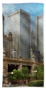 City - Chicago Il - Continuing A Legacy Beach Towel