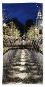 City Creek Fountain - 2 Beach Towel