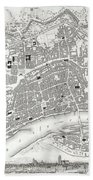 City Map Or Plan Of Frankfort Germany Beach Towel