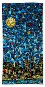 City Mosaic Beach Towel