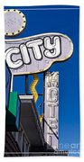 City Motel Las Vegas Beach Towel