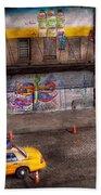 City - New York - Greenwich Village - Life's Color Beach Towel