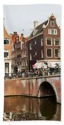 City Of Amsterdam In Holland Beach Towel