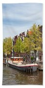 City Of Amsterdam In The Netherlands Beach Towel