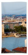 City Of Budapest Cityscape Beach Towel