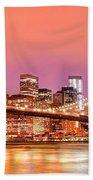 City Of Lights Beach Towel