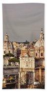 City Of Rome At Dusk Beach Towel