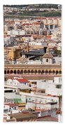 City Of Seville Cityscape In Spain Beach Sheet