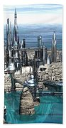 City Of The Future Beach Towel
