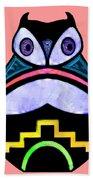 City Owl Beach Towel